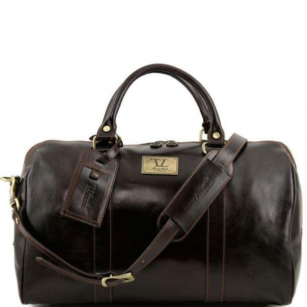 Rejsetaske Weekendtaske med Bagagemærke i læder