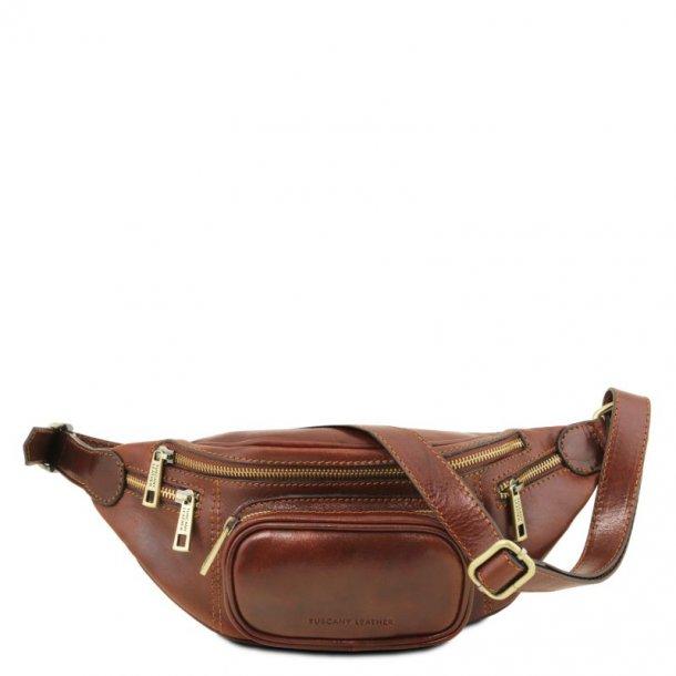 Bæltetaske i læder