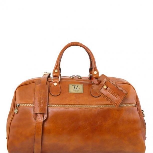Retro Rejsetaske Weekendtaske i læder - Large