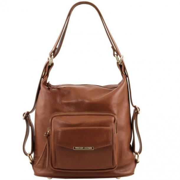 Læder skulder taske og rygsæk - 141535