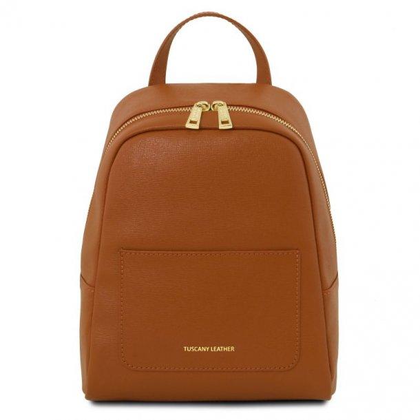 Lille læder rygsæk til kvinder - 141701