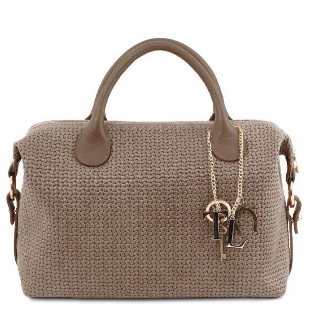 Maxi Duffle taske - vævet look - 141885