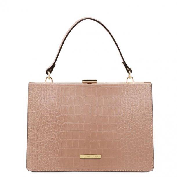 IRIS - håndtaske med krokodille print