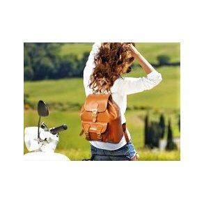 Læder rygsæk
